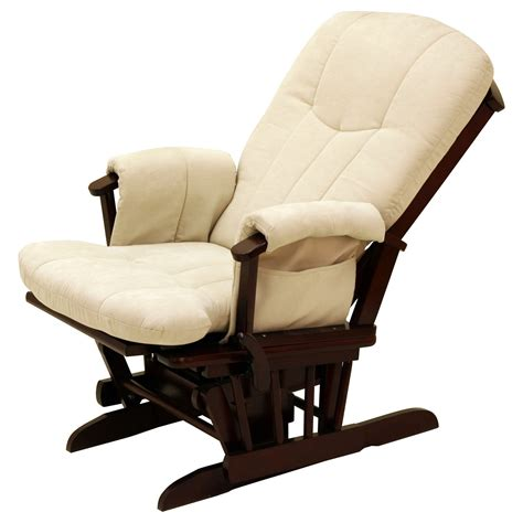 storkcraft deluxe reclining glider rocker cherry beige gliders nursery rockers at hayneedle
