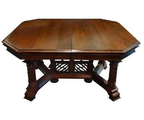 Antique Gothic Style Dining Table With Eight Chairs With Modern Vintage Living Room Decor Flower Decorations Flooring Singapore Flow Jhene Southern Guest Rooms Design Tips Photos White Ideas Great For Walls