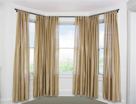 Home Curtain : Best Curtain Rods For Bay Windows