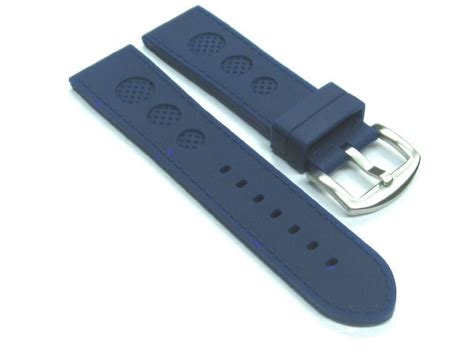 U Boat Watch Replacement Parts by 24mm Rubber Strap Watch Band For U Boat 48mm Luminox Blue