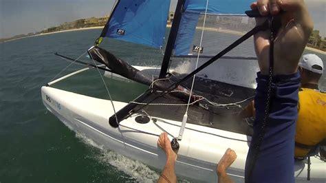 Catamaran Sailing Dubai by Sailing Through The Palm Jumeirah On A Catamaran Youtube