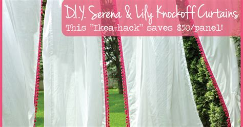 Serena & Lily Knockoff Kids Curtain Panels White Shower Curtain With Ruffles On Bottom Red Silver Curtains Cotton Blend Kitchen Blackout For Baby Room Custom Seattle Bonded Interlining And Air Door Switch Install