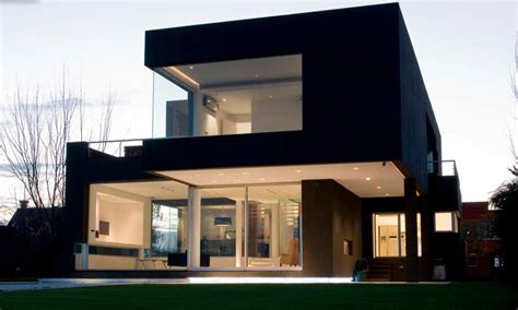 awesome modern architectural exterior home design a black modern house in argentina