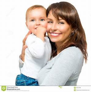Happy Smiling Mother And Baby Royalty Free Stock Photos ...