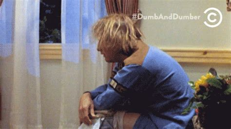 Dumb And Dumber Bathroom Animated Gif by Dumb And Dumber Sudden Realization Gif Find On Giphy