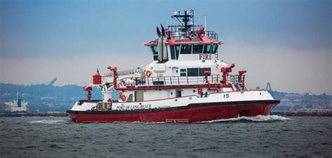 New Orleans Fire Boat port of long beach commissions second foss built fireboat