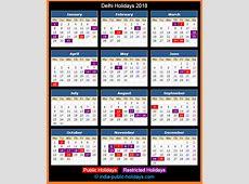 Delhi Holidays 2018