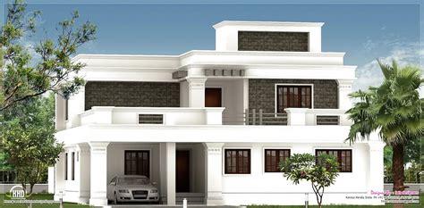 R It Designers (home Design In Kannur) : Flat Roof Villa Exterior In 2400