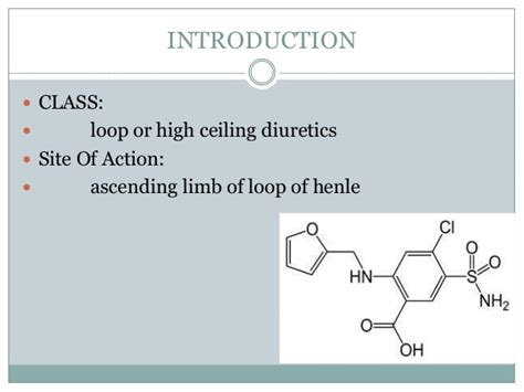 furosemide profile