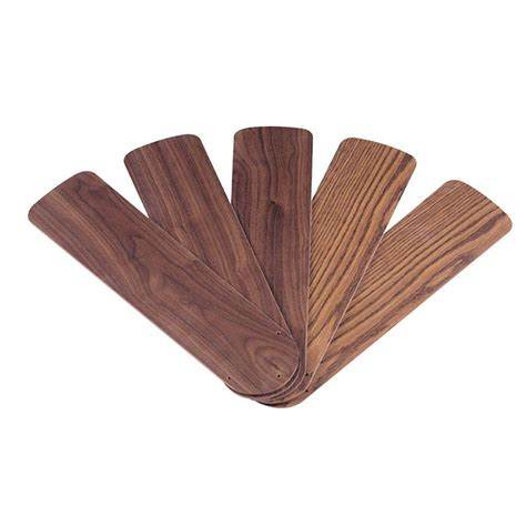 westinghouse 52 in oak walnut replacement fan blades 5 pack 7741500 the home depot