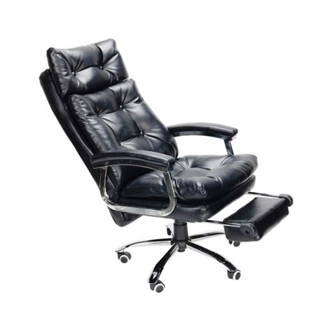 reclining office chair with footrest and high backrest