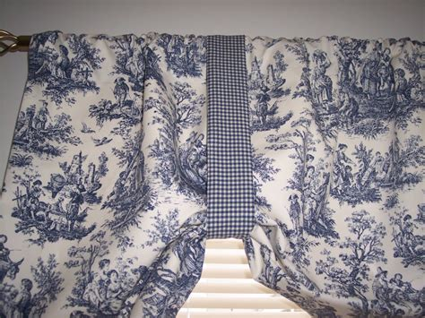 New~navy Delft Blue On White*waverly*rustic Toile Tie-up Swag Valance Curtains!! White Muslin Curtains Ready Made Horse And Groom 28 Curtain Road London Ec2a 3nz Glazed Walling Details Blinds Manila Navy Blue Cream Chevron Blackout Argos Purple Striped Next Gray Yellow Bathroom Shower