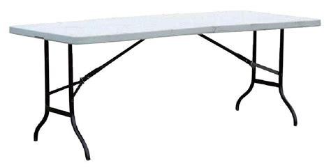 table pliante blanche l183 x p76 x h74 cm mat 233 riel de march 233 224 prix imbattable bonnes