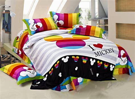 100 cotton bedding set king size mickey mouse