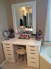 make up vanity IKEA Bedroom Vanity: Great Storage Ideas   atzine.com