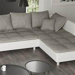 Sofa U Form Grau : sofa vivara wei grau ecksofa von jalano wohnlandschaft ~ Markanthonyermac.com Haus und Dekorationen