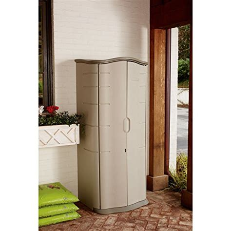 storage shed rubbermaid plastic vertical outdoor keeper patio lawn garden tool ebay