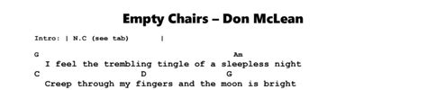 don mclean empty chairs guitar lesson jerry s guitar bar