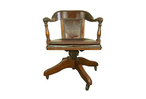 antique bankers chair original leather seat cushion omero home