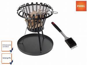 Feuerkorb Mit Grill : feuerkorb grill in einem mit bodenplatte grillb rste schwarz 50cm grillkorb eur 60 49 ~ Markanthonyermac.com Haus und Dekorationen