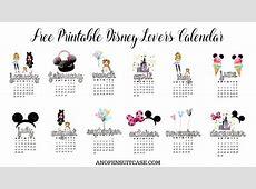 2018 Disney Lovers Calendar ~ Free Downloadable Calendar