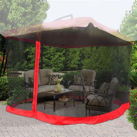 9 x9 mosquito netting bug mesh net for outdoor patio offset umbrella gazebo top ebay