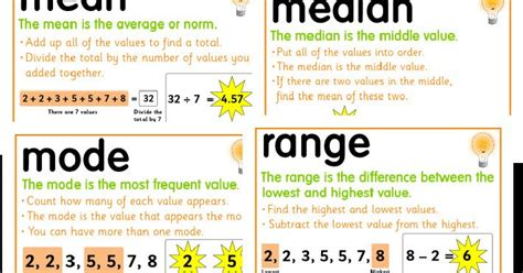 3 6 free resources median mode and range foldable