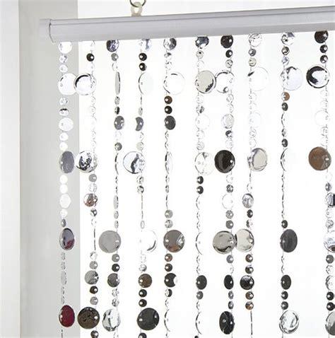 rideau de porte perles plates argent eminza