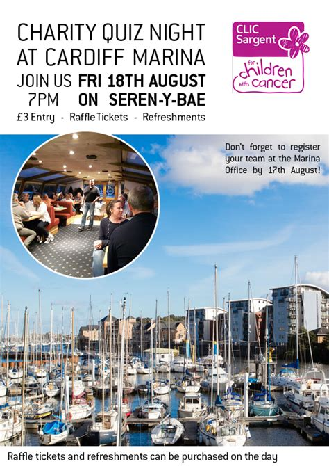 The Boat Quiz Night by Charity Quiz Night Friday 18th August At Cardiff Marina