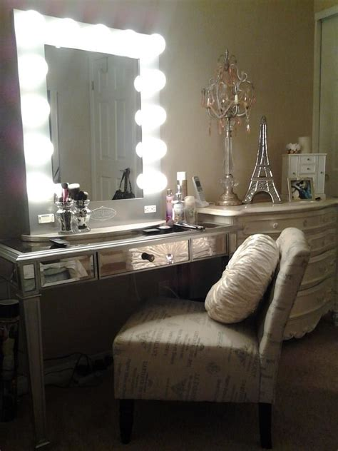 ideas for your own vanity mirror with lights diy