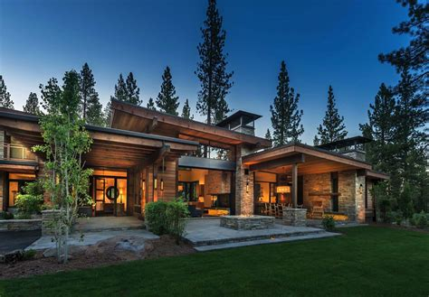 Modern Houses : Mountain Modern Home In Martis Camp With Indoor-outdoor Living