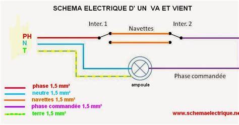 schema electrique schema branchement cablage interrupteur va et vient