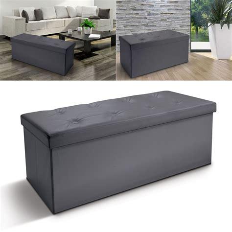 banc coffre rangement pliable gris gm 100x38x38 cm meubles et am 233 n
