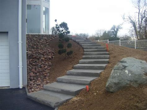 escalier ext 233 rieur en b 233 ton escaliers en b 233 ton d 233 sactiv 233 mur en pierres s 232 ches terrasse en