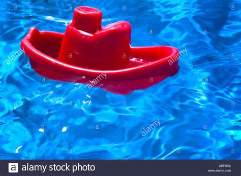 Toy Boat For Pool by Toy Red Boat In Pool Stock Photo Royalty Free Image