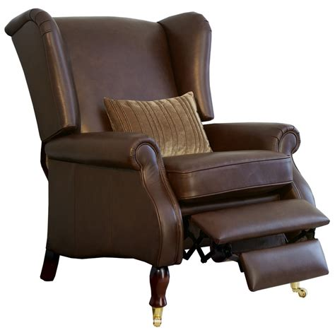 knoll york wing chair with manual recliner