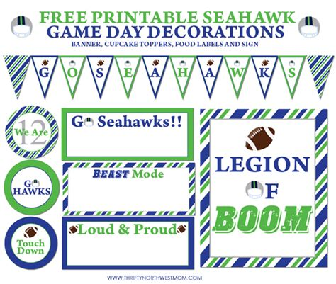 Ticket Template Gameday by 12 Decorating Ideas For Your Big Seahawk Football Party
