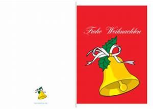 Geschenkkarten Zum Ausdrucken : weihnachtskarte 39 frohe weihnachten goldene glocke 39 vorlagen und muster zum ausdrucken ~ Markanthonyermac.com Haus und Dekorationen
