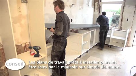 installer une cuisine et un plan de travail vid 233 o bricolage gamma