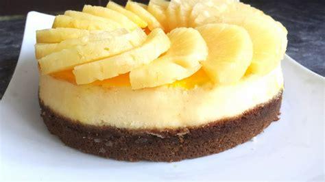 cheesecake 224 l ananas par myriam d 233 lices