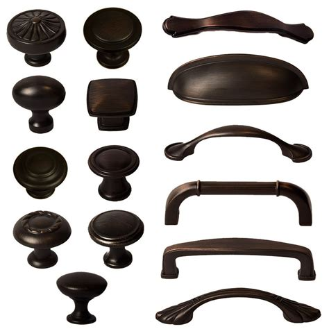 cabinet hardware knobs bin cup handles and pulls rubbed bronze ebay