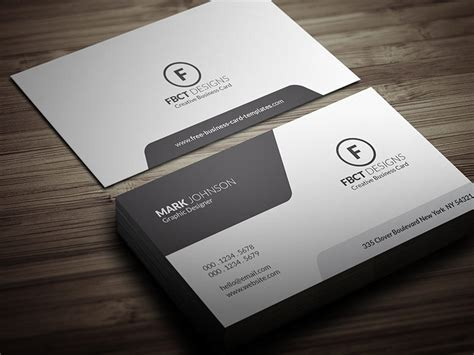 Clean Monochrome Business Card Template » Free Download