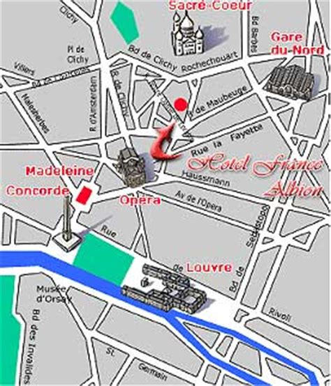 hotel albion near the garnier opera how to get to our hotel plan map route