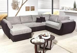 Couch L Form Grau : wohnlandschaft ontario 326x231 cm mikrofaser grau schwarz sofa u form wohnbereiche wohnzimmer ~ Markanthonyermac.com Haus und Dekorationen