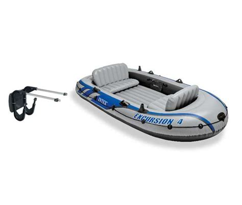 Intex Inflatable Boat Review by Intex Excursion 4 Inflatable Boat Set Motor Mount Kit