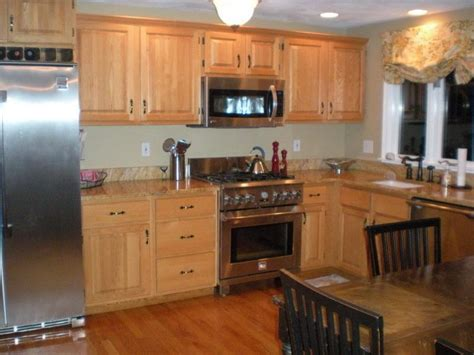 oak kitchen cabinets for your best kitchens with oak cabinets ideas railing stairs and