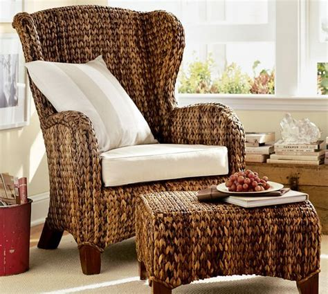 seagrass wingback armchair from pottery barn