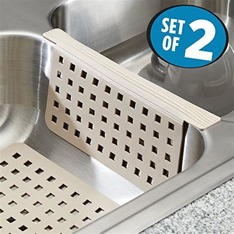 mdesign kitchen dish drying mats sink mat and sink divider