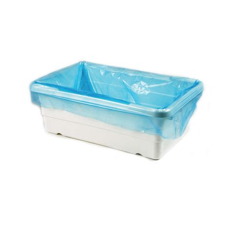 disposable plastic bathtub liners poly tote liners of 500 tinted blue ultrasource