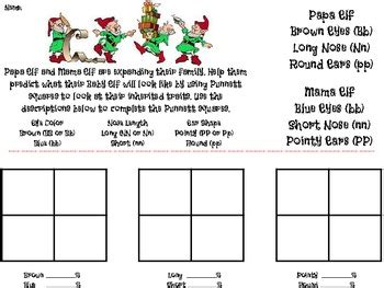 Elf Heredity  Punnett Square Practice By Catherine T  Teachers Pay Teachers